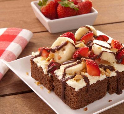 Brownie Banana Split - Brownie Mama-ia