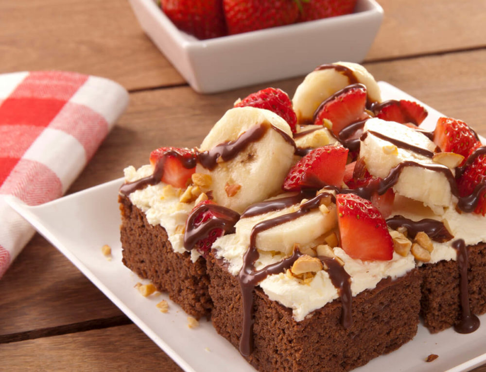 Brownie Banana Split