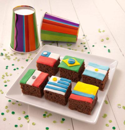 Brownies Mundialistas - Brownie Mama-ia