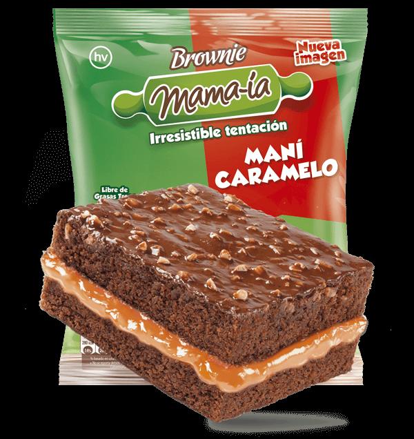 Brownie Maní Caramelo - Brownie Mama-ia