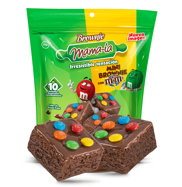 Mini Brownie M&M's - Brownie Mama-ia