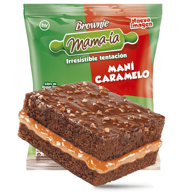 Brownie Maní Caramelo - Brownie Mama-ia